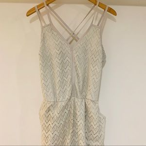 Xhilaration lace gray romper